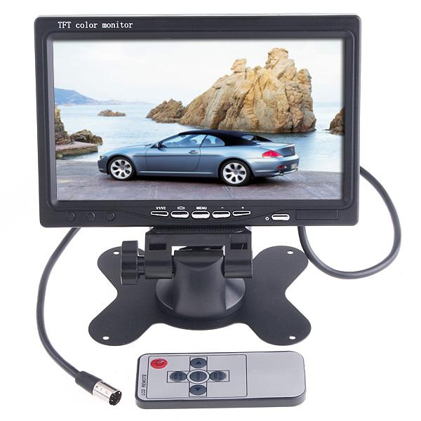 "7"" TFT LCD Car Monitor Parking Assistance Car rear view camera with mirror monitor Backup Reverse Auto TV Monitor Car DVD Screen(China (Mainland))"