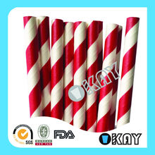 High Quality Discount Party Supplies Hot Selling Wholesale Craft Disposable Paper Striped Drinking Straws Bulk For Birthday Day(China (Mainland))