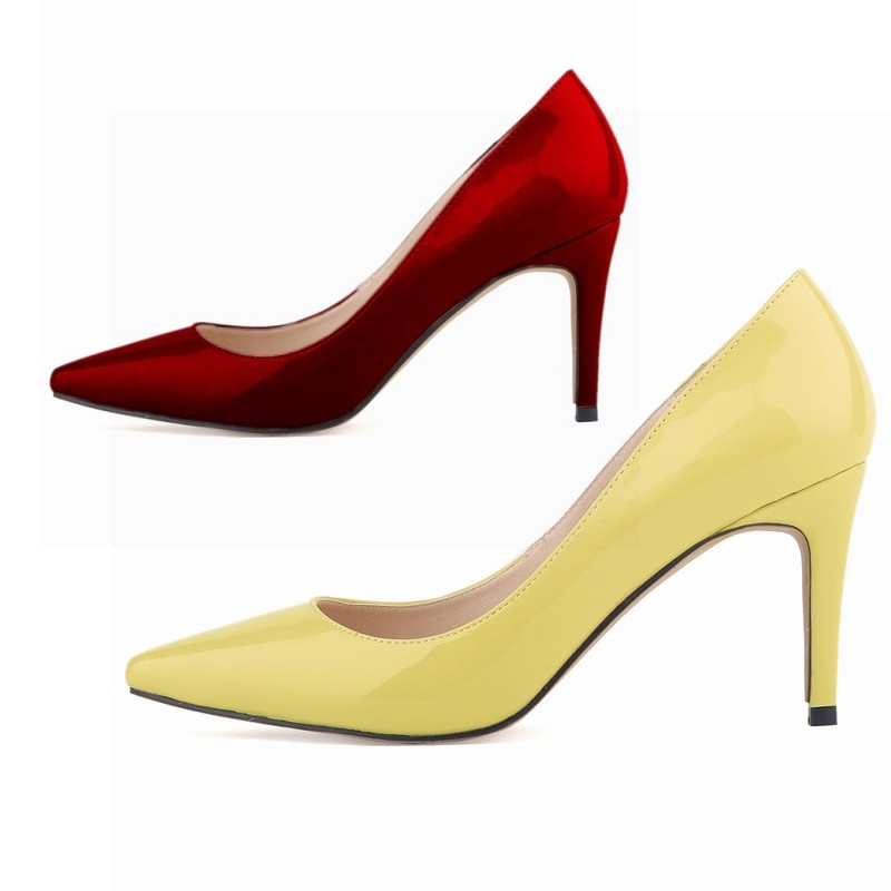 Smynlk-10019d 2015 Sexy Woman Pump Pointed Toe High Heels Party Ol Shoes Soft Pu Pumps For Women Lady Big Size 35-42 <br><br>Aliexpress