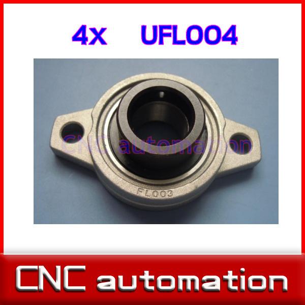 20 mm shaft caliber zinc alloy rhombus bearing housing UFL004 Spherical bearing (With eccentric sleeve)(China (Mainland))