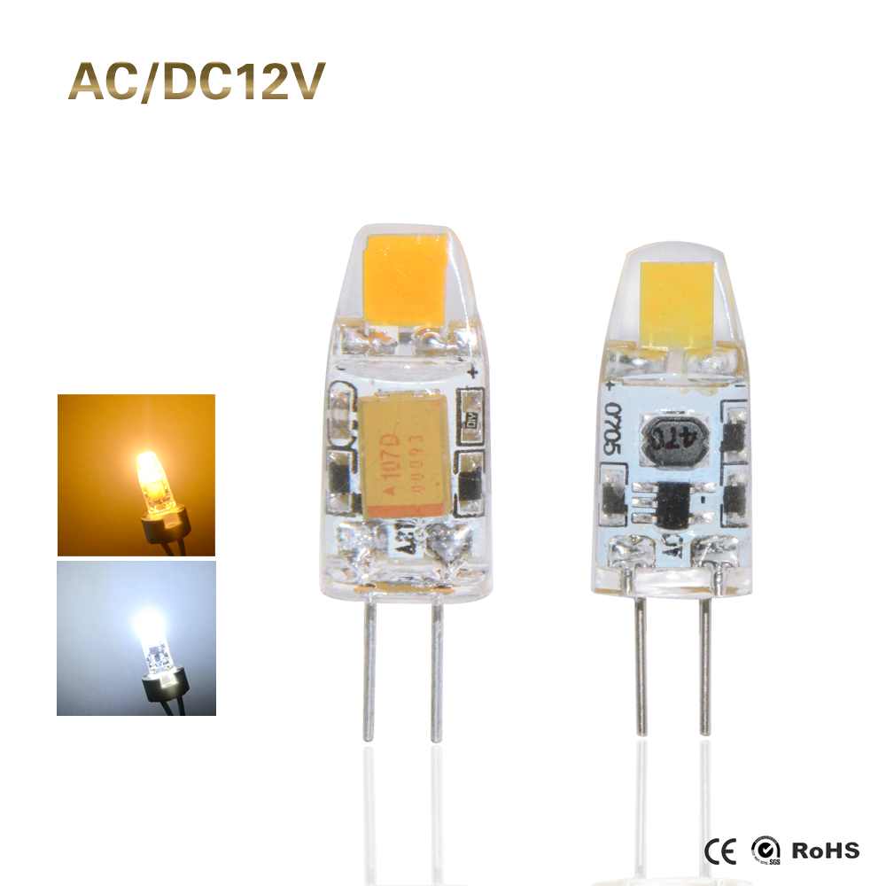 G4 LED Corn Light COB Bulb AC/DC12V 3W LED Lamp for Crystal Chandelier indoor commercial light Replace Halogen Crystal Light()