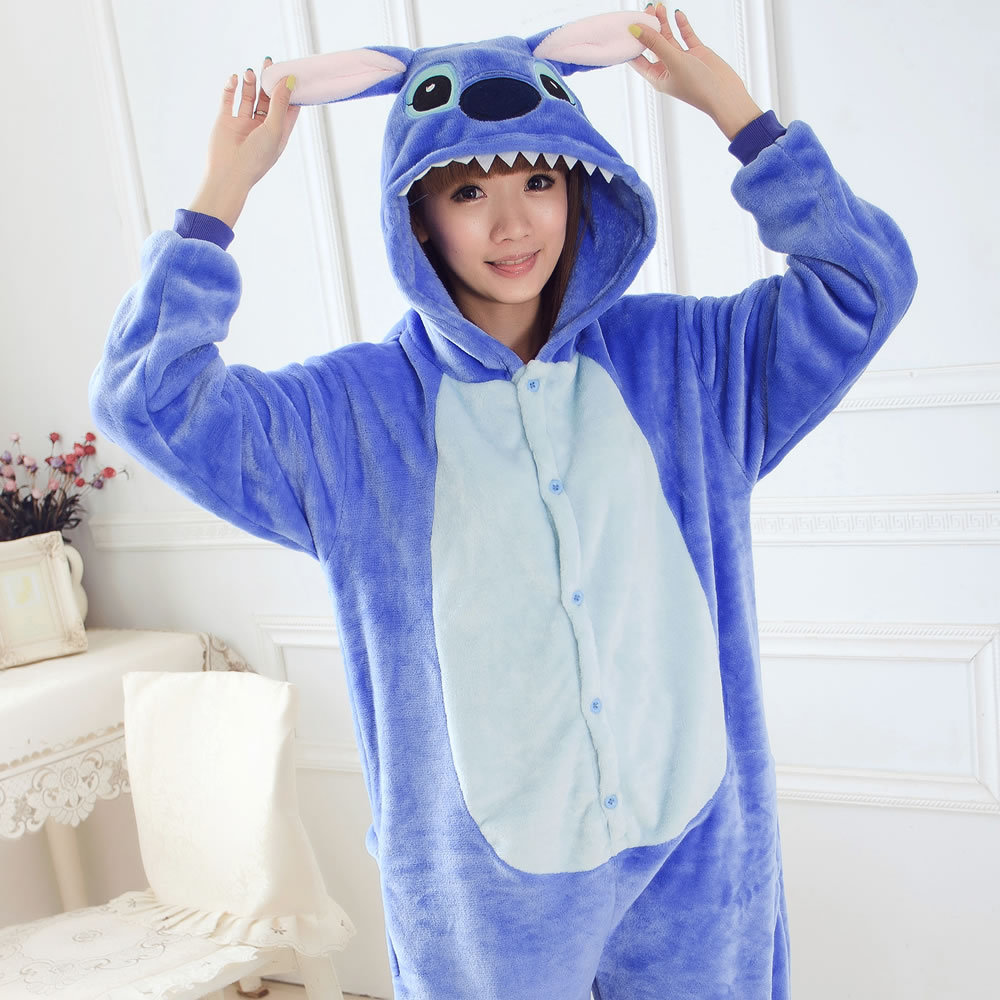 Blue Stitch Onesie Pajamas Adult Unisex Cosplay Jumpsuit Animal Pajamas onesies for adults jumpsuit pajama suit
