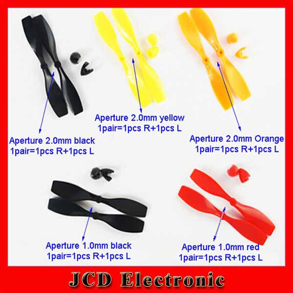 40pcs Plastic propeller Fixed wing model aircraft propeller helicopter tail Aperture 1mm&2mm length 75mm(China (Mainland))
