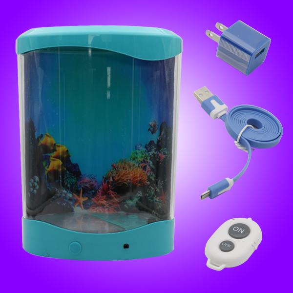 2015 best gift artificial jelly fish tank aquarium/ jellyfish aquarium USB/ usb desktop aquarium(China (Mainland))
