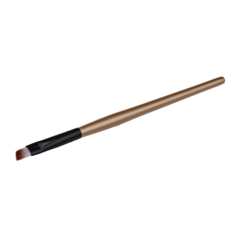 1pc 2016 eyebrow cosmetic makeup brush pincel pink gold white black color travel makeup brushes cosmetique - Colorant Cosmtique