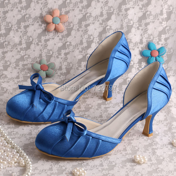 Hot Selling Comfortable Ivory Satin Wedding Bridal Shoes Low Heeled in Spring Autumn Dropship Custom