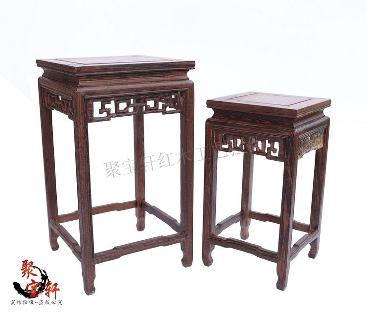 Wood carving handicraft furnishing articles household act the role ofing is tasted square vase flowerpot tank base
