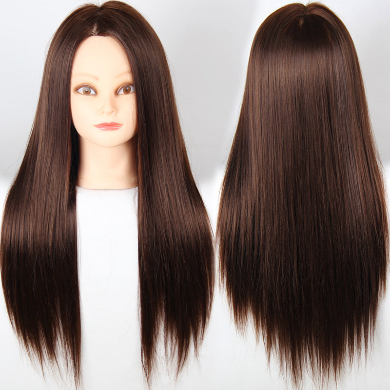 "Professional Styling Head 20""Synthetic Hair Mannequin Head With Hair Styling Mannequins Training Head Maniquies Women Maniqui(China (Mainland))"