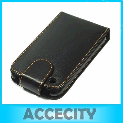 N94 10pcs/ lot Leather Skin Case Cover Pouch For Apple iPhone 3G S 3GS Black free shipping(China (Mainland))