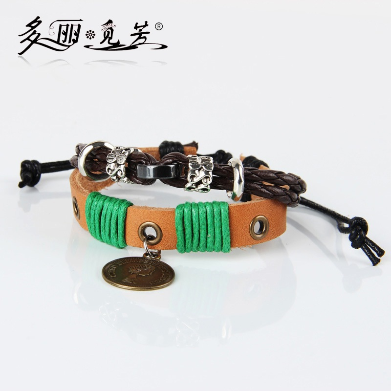 Beaded Bracelet wholesale coins retro Bracelet explosion queen of the British royal family jewelry(China (Mainland))