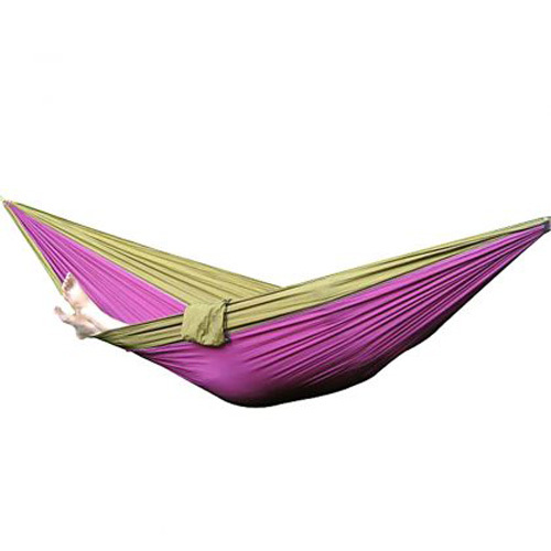 Parachute Nylon Hammock Travel Camping Outdoor Sleeping Bed For Two Person SZA(China (Mainland))