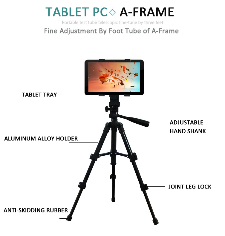 High Quality Aluminum Adjustable Universal Tablet Tripod Mount Holder Bracket For Ipad Tablet Pc Free Shipping(China (Mainland))