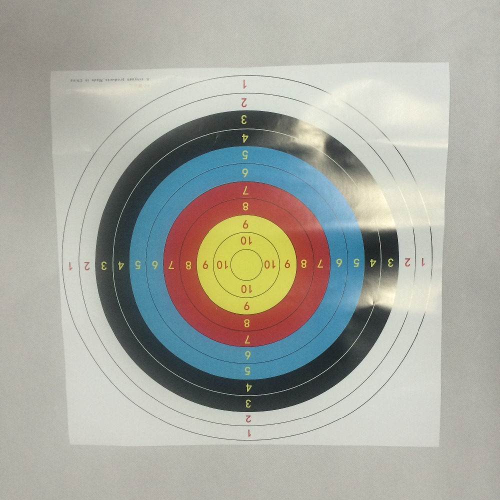 Archery target double printed 10 rings 40cm diameter shooting archery bow and arrow target paper