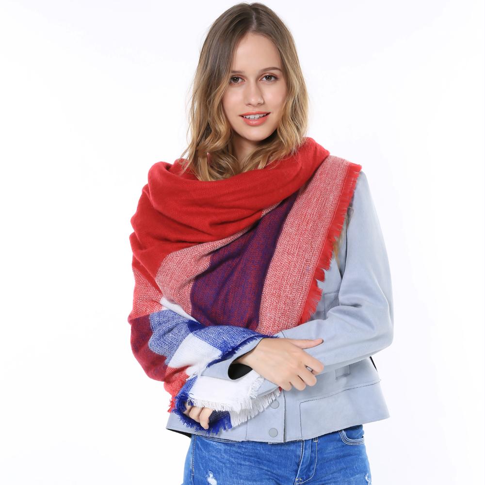 2015 Famous Brand Square Warm Thick Shawl Pashmina Prices In Euros Women Winter Autumn font b