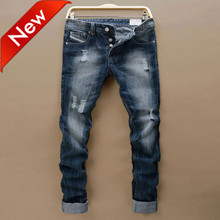 new arrival brand mens jeans blue fashion 2016 casual jeans men size:30-42 mid-rised jeans for men S964(China (Mainland))