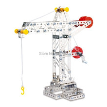 2015 Special Offer Promotion Buildings Fallout Miniatura Casa Diy 3d Alloy Metal Assembling Toys Construction Cranes Model Toy (China (Mainland))