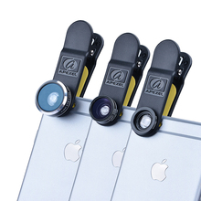 Buy 3 1 Clip Cell Phone Camera 198 Degree Fisheye Lens + 0.63X Wide Angle +15X Macro Lens iPhone Samsung Xiaomi DG3 for $17.77 in AliExpress store