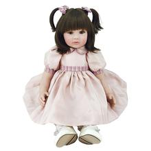 "Buy 22"" Handmade Vinyl Silicone Reborn Baby Doll Lifelike Doll Girl Gift Jessica New Soft Girl Baby Doll Baby Alive Bebe Reborn"