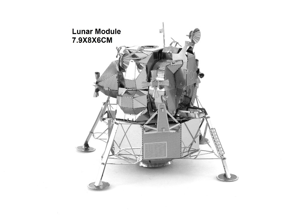 Lunar module LM airplane model 3D Metal earth Laser Cutting DIY metallic puzzle jigsaw toys building boat car model kit world(China (Mainland))