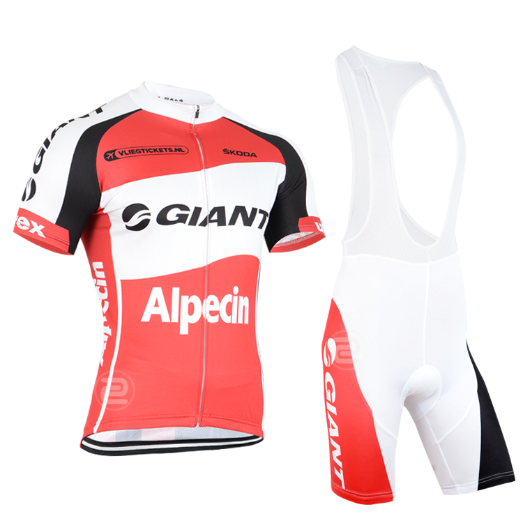 2015 Summer giant Red Cycling Wear / Men's Comfortable Bike Jersey (bib) Bicycle Clothing Set - Happy cycling life store