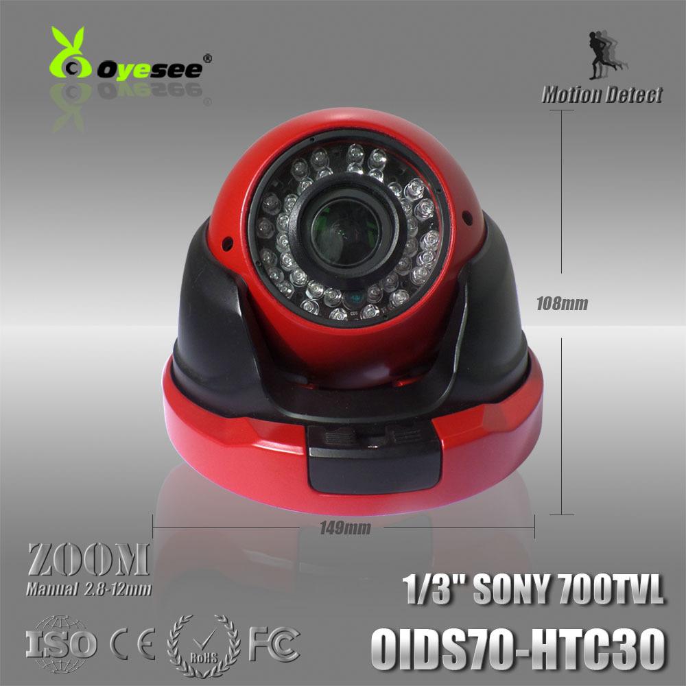 OIDS70-HTC30 Effio-E 700TVL CCD Vandalproof IR Dome camera manual zoom lens 36LEDS night vision CCTV camera cctv camera review(China (Mainland))
