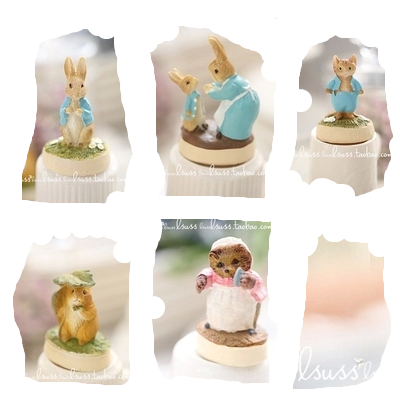 2015 new lsuss exported to Japan more than a single mother of Peter Rabbit small animal ornaments resin bunnies Peter rabbit(China (Mainland))