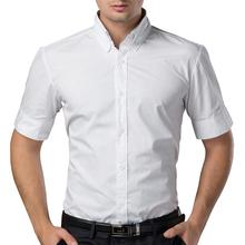 Black/White Men Short Sleeve Shirt  Spring Summer Mens Shirts Camisas Hombre Casual Slim Fit Mens Brand Shirts L1060(China (Mainland))