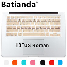 Buy New Korean Keyboard US Version Silicone Protector Stickers Skin Apple Macbook Air 13 Mac Pro 13 15 17 Retina Keyboard Cover for $3.99 in AliExpress store