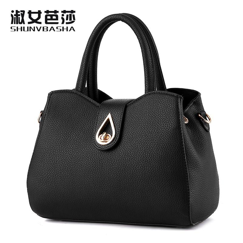 SNBS 100% Genuine leather Women handbags 2016 New wave of female fashion handbags handbag Messenger shoulder bag(China (Mainland))