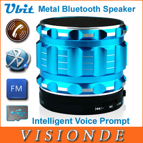 Ubit Portable Mini Bluetooth Speakers Metal Steel Wireless Smart Hands Free Speaker With FM Radio Support SD Card For iPhone(China (Mainland))