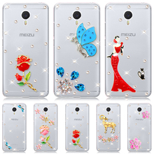 "Buy Meizu M3 Note Case Meizu M2 Note Clear hard plastic Blue butterfly Diamond flower 5.5"" mobile phone Cases for $2.54 in AliExpress store"