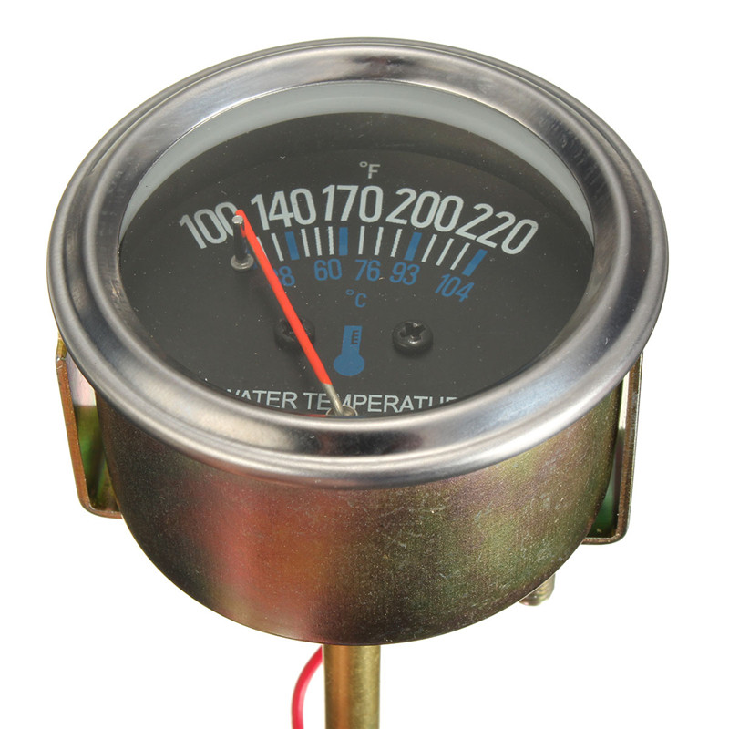 High Quality 52mm Mechanical Auto Water Temperature Temp Meter Gauge 38~104 Degree 12V Yellow Light New Arrival(China (Mainland))