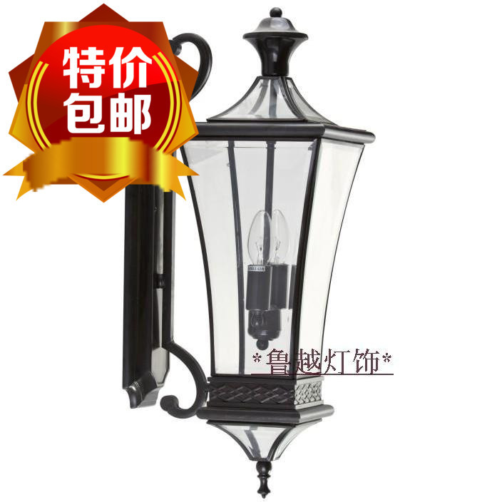 Wall Lamps B And Q : Classical European wide copper lamps wall lamp American style outdoor patio door balcony stairs ...