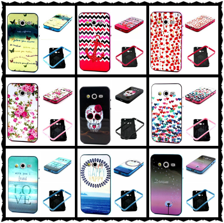 Luxury TPU Cover Case for Samsung Galaxy Core 2 G355h / Duos Dual SIM G355H High quality Back Cases 2 In 1 New Items,YK053(China (Mainland))