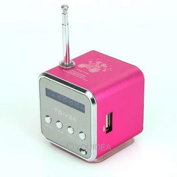 free ship Plum Digital portable Speaker Mini Speaker MP3 Player USB Disk Micro SD TF Card FM Radio Line In/ Out sound box 80454