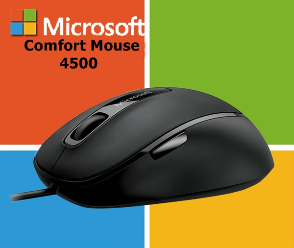 Genuine Brand New Microsoft Comfort Mouse 4500 Feature Packed BlueTrack Wired Mouse For PC Notebook GRAY(China (Mainland))