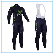 2016 Hot Brand movistar Bike Bicycle Cycling Jersey Long Sleeve MTB Clothing Set Pro Team Men - Freedom Store store