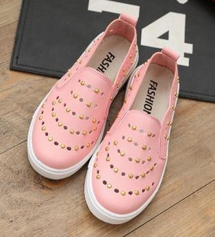 Children single casual shoes spring summer 2016 girls rivets candy color princess fashion leisure leather shoes ninas 559a<br><br>Aliexpress