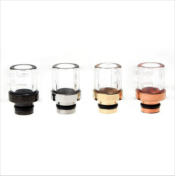 Stainless Steel Glass Hybrid 510 Drip Tip For CE Clearomizer MT3 Atomizer Disposable E Cig