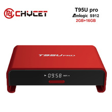 Buy Chycet T95U PRO Amlogic S912 Octa core Android 6.0 Smart TV Box 2GB/16GB Dual Band WiFi H.265 4K media Player Set top box for $85.49 in AliExpress store