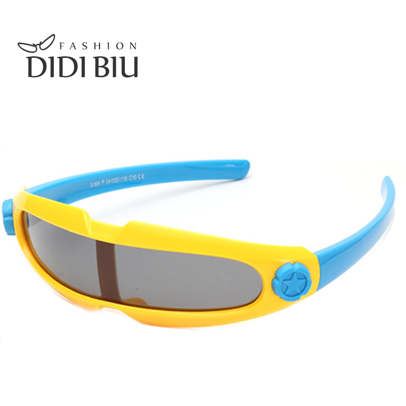 DIDI Kids Polarized Integrated Safety Sunglasses Brand TR90 Frame Outdoor Sports Glasses One Piece Fishing Camping Oculos C711(China (Mainland))