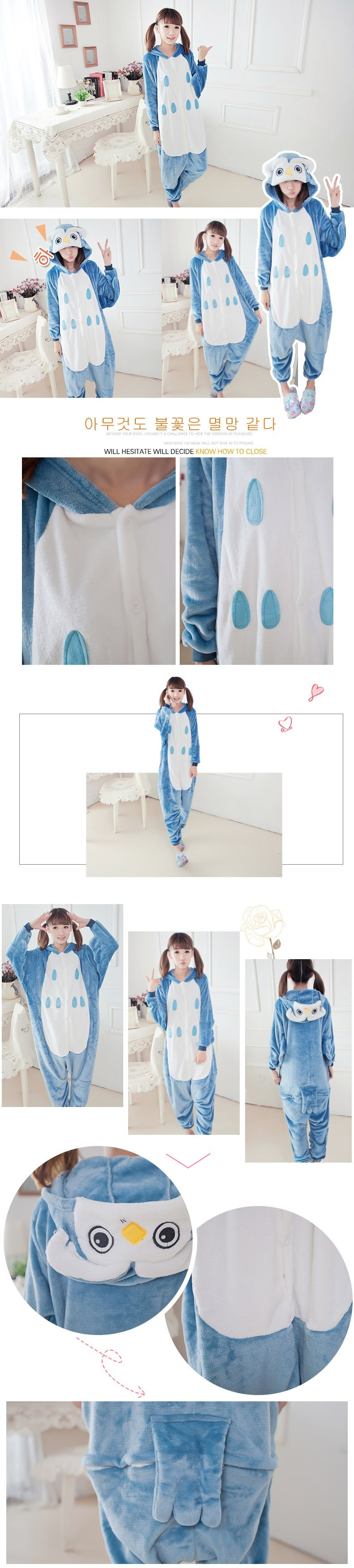 Anime Owl adult onesie Pyjamas Cartoon Animal Cosplay Costume adult Children Sleepwear Halloween Cosplay Owl Jumpsuit Romper