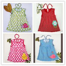 Free shipping  Baby Dresses Princess Girls Dress 0-1years Cotton Clothing Dress Summer Clothes For Girl