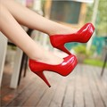 Heels 11CM Patent Leather Women Pumps Party Wedding Work Platform Pumps Sexy Ladies Stiletto Shoes Casual