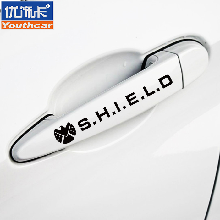 Card key car stickers personality car sticker 2 decoration stickers handle reflective stickers