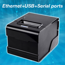 thermal printer 80mm receipt printer for pos LAN+USB+RS232 interfaces auto-cutter universal plug nv logo download and print(China (Mainland))