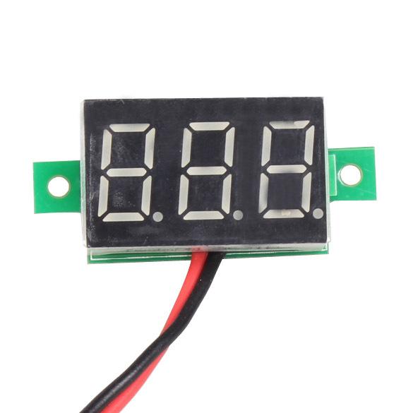 High Quality Mini DC 2.5-30V Red LED Panel Voltage Meter 3-Digital Display Voltmeter L3FE(China (Mainland))