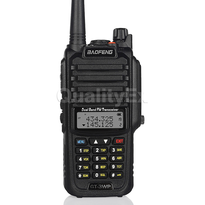 Baofeng GT-3WP IP67 Waterproof Dual Band 136-174/400-520MHz Ham Two Way Radio Transceiver Walkie Talkie + Car Charger Cable(China (Mainland))