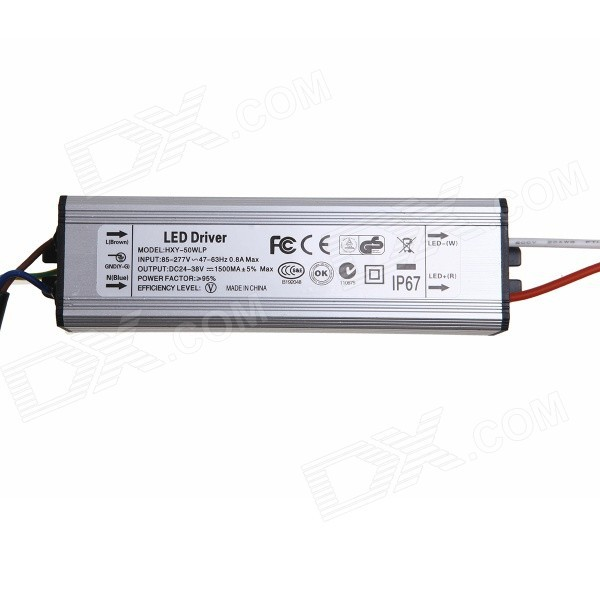Waterproof 50W LED Driver 50W 1500MA Constant Current  Driver LED Power Supply ( Input 85-265V)<br><br>Aliexpress