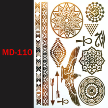 MD-110 Flash temporary tattoos henna sticker sexy products fashion body art fit women dress in party date ball daily life